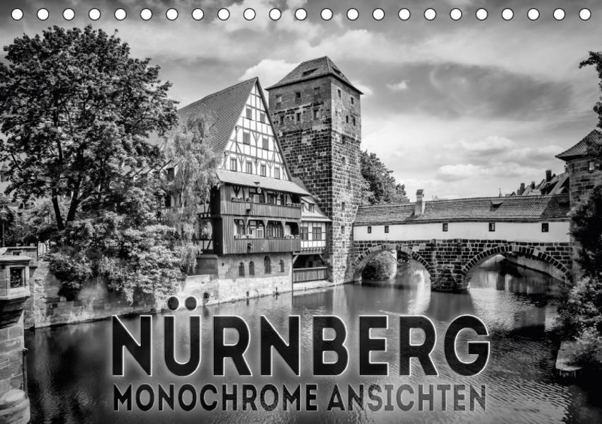 NÜRNBERG Monochrome Ansichten (Tischkalender 2017 DIN A5 quer) - Coverbild