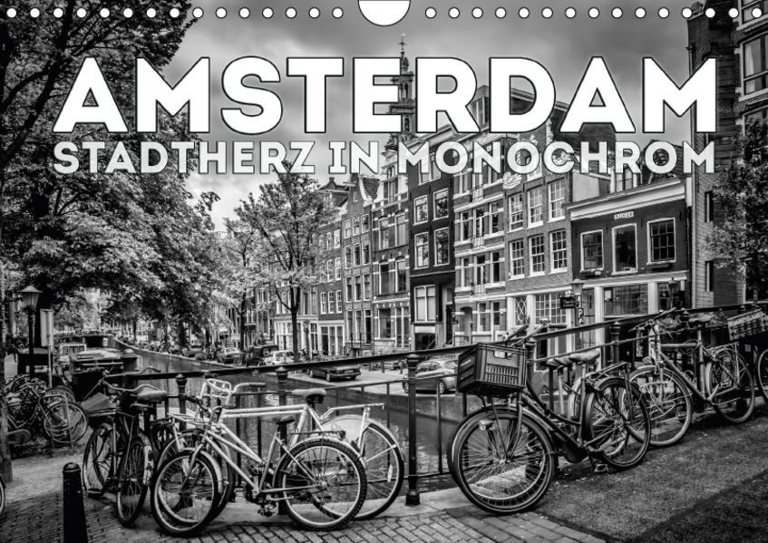 AMSTERDAM Stadtherz in Monochrom (Wandkalender 2017 DIN A4 quer) - Coverbild