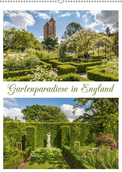 Gartenparadiese in England (Wandkalender 2017 DIN A2 hoch) - Coverbild