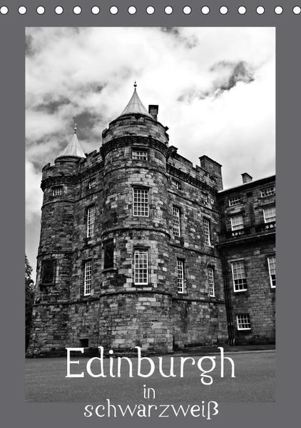 Edinburgh in schwarzweiß (Tischkalender 2017 DIN A5 hoch) - Coverbild