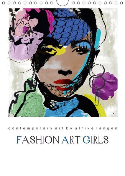 FASHION ART GIRLS (Wandkalender 2017 DIN A4 hoch) - Coverbild