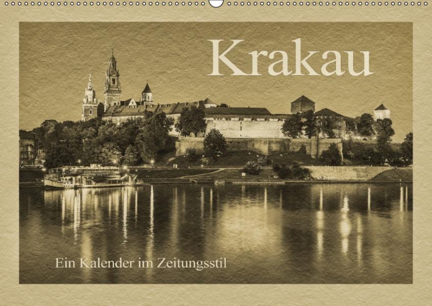 Krakau – Ein Kalender im Zeitungsstil (Wandkalender 2017 DIN A2 quer) - Coverbild