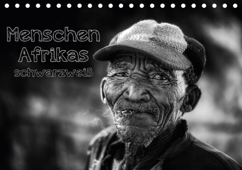 Menschen Afrikas schwarzweiß (Tischkalender 2017 DIN A5 quer) - Coverbild