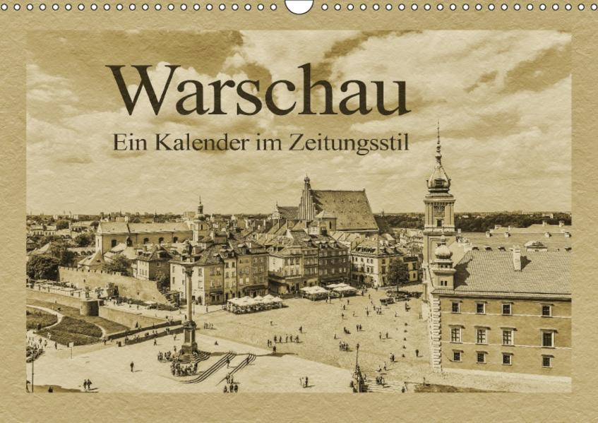 Warschau – Ein Kalender im Zeitungsstil (Wandkalender 2017 DIN A3 quer) - Coverbild