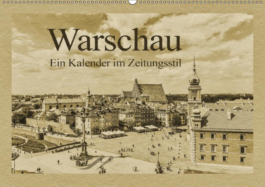 Warschau – Ein Kalender im Zeitungsstil (Wandkalender 2017 DIN A2 quer) - Coverbild