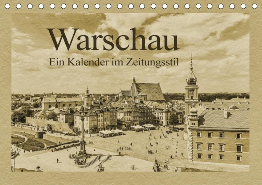 Warschau – Ein Kalender im Zeitungsstil (Tischkalender 2017 DIN A5 quer) - Coverbild
