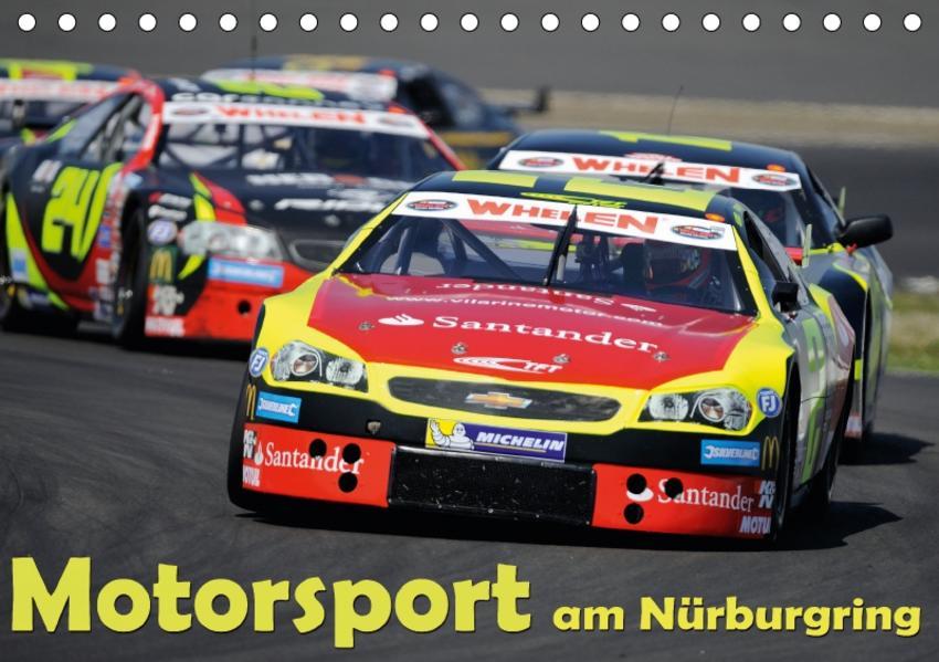 Motorsport am Nürburgring (Tischkalender 2017 DIN A5 quer) - Coverbild