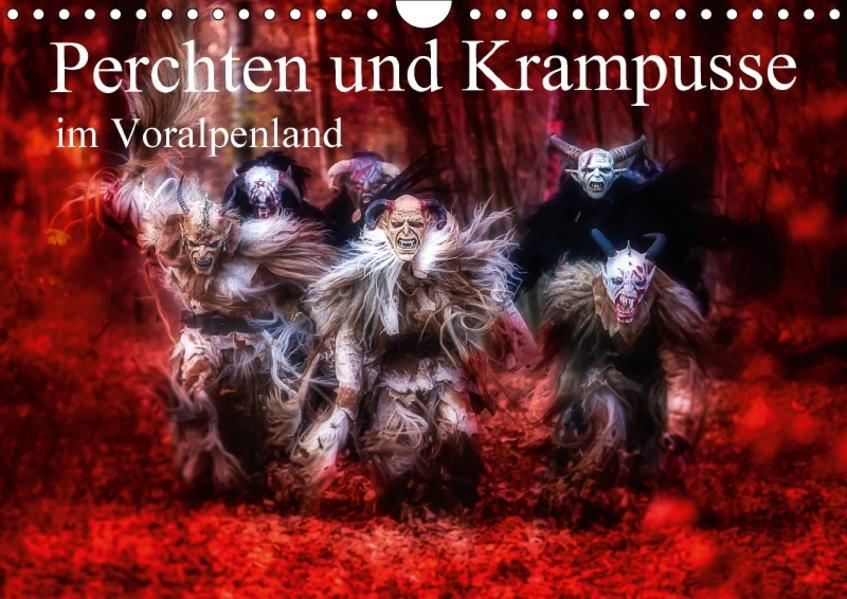 Perchten und Krampusse im Voralpenland (Wandkalender 2017 DIN A4 quer) - Coverbild