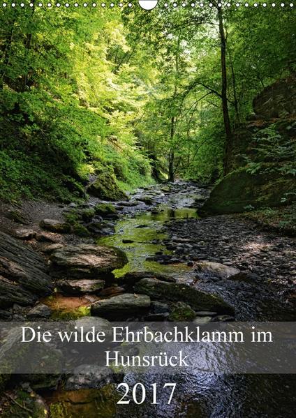 Die wilde Ehrbachklamm im Hunsrück (Wandkalender 2017 DIN A3 hoch) - Coverbild