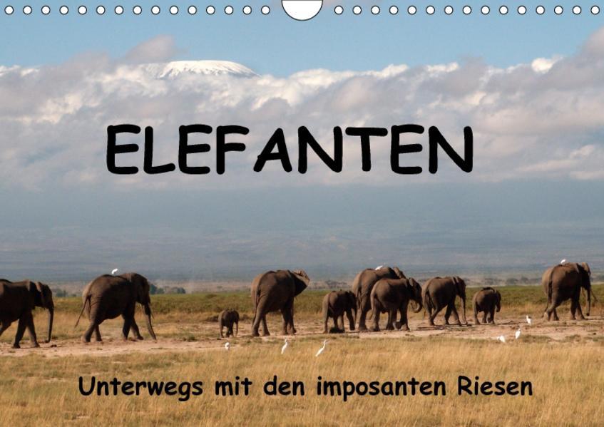 Elefanten - Unterwegs mit den imposanten Riesen (Wandkalender 2017 DIN A4 quer) - Coverbild