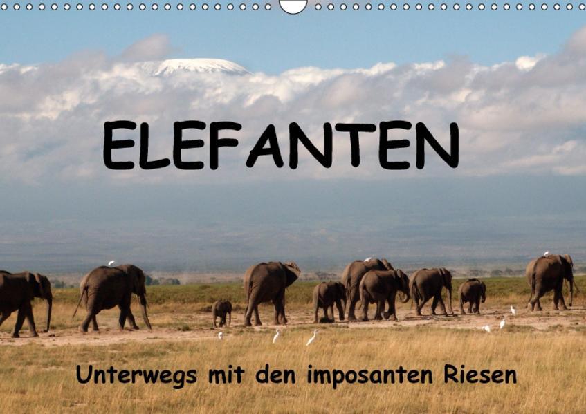 Elefanten - Unterwegs mit den imposanten Riesen (Wandkalender 2017 DIN A3 quer) - Coverbild