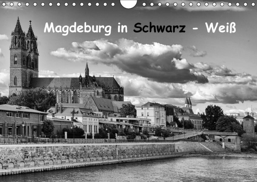 Magdeburg in Schwarz - Weiß (Wandkalender 2017 DIN A4 quer) - Coverbild