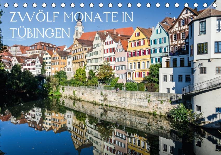 Zwölf Monate in Tübingen (Tischkalender 2017 DIN A5 quer) - Coverbild