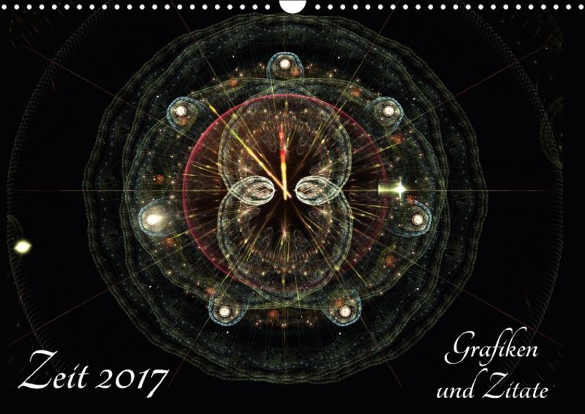 Zeit 2017 - Grafiken und Zitate (Wandkalender 2017 DIN A3 quer) - Coverbild