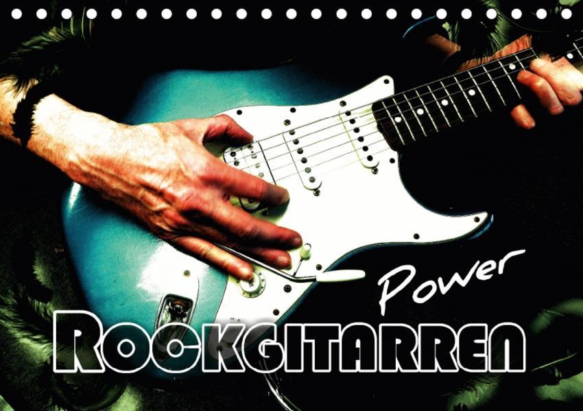 Rockgitarren Power (Tischkalender 2017 DIN A5 quer) - Coverbild