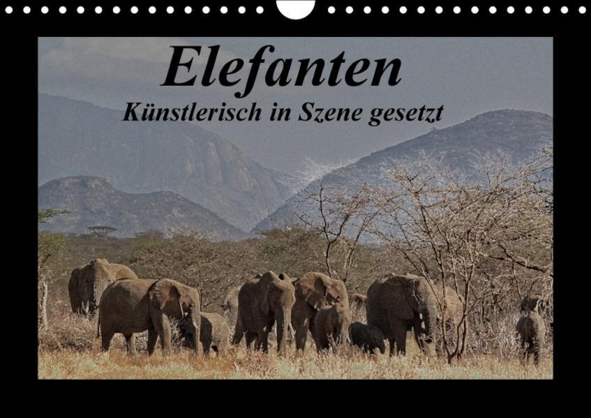 Elefanten - Künstlerisch in Szene gesetzt (Wandkalender 2017 DIN A4 quer) - Coverbild