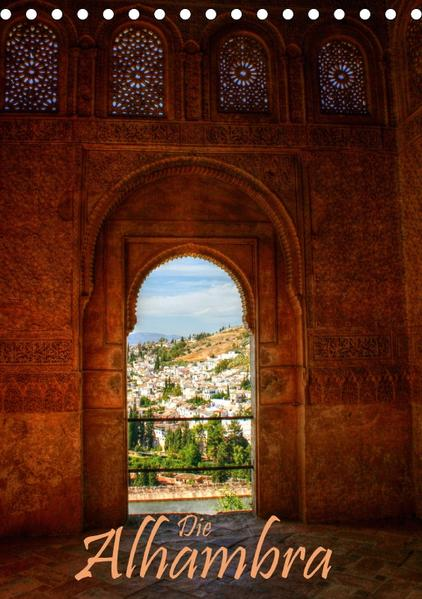 Die Alhambra (Tischkalender 2017 DIN A5 hoch) - Coverbild