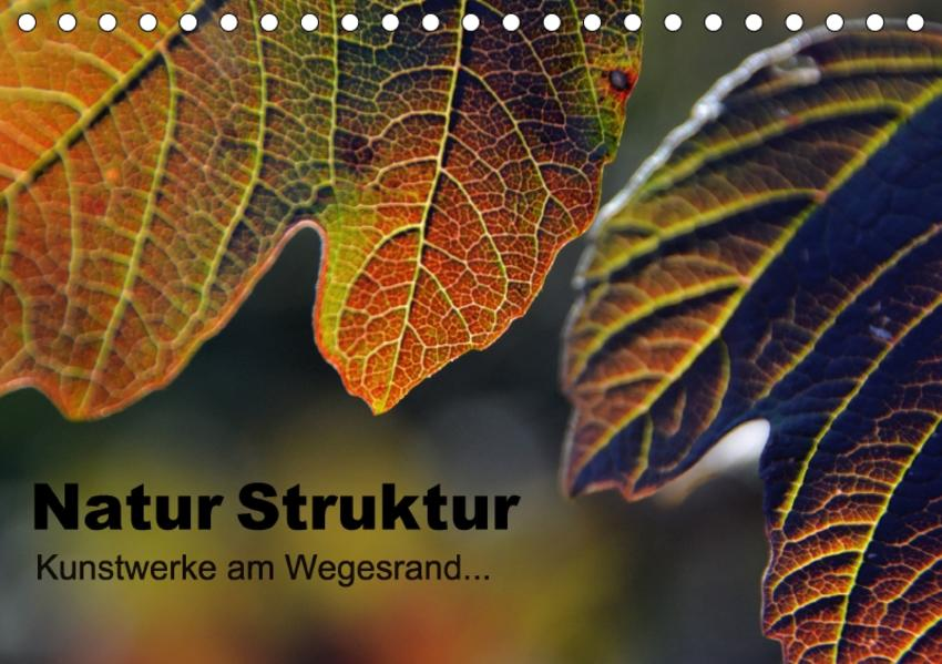 Natur Struktur - Kunstwerke am Wegesrand... (Tischkalender 2017 DIN A5 quer) - Coverbild