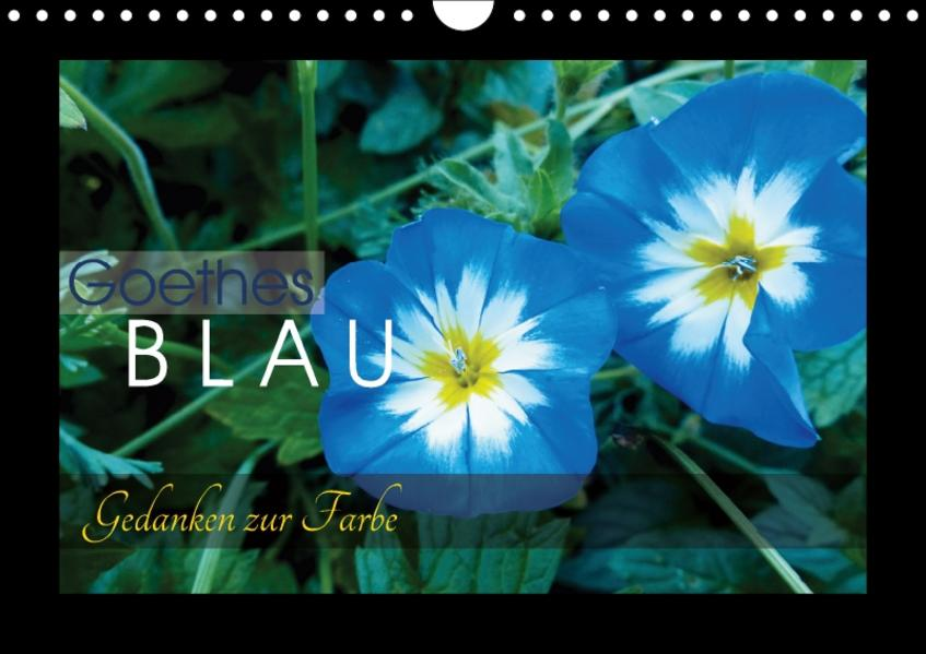 Goethes Blau. Gedanken zur Farbe (Wandkalender 2017 DIN A4 quer) - Coverbild