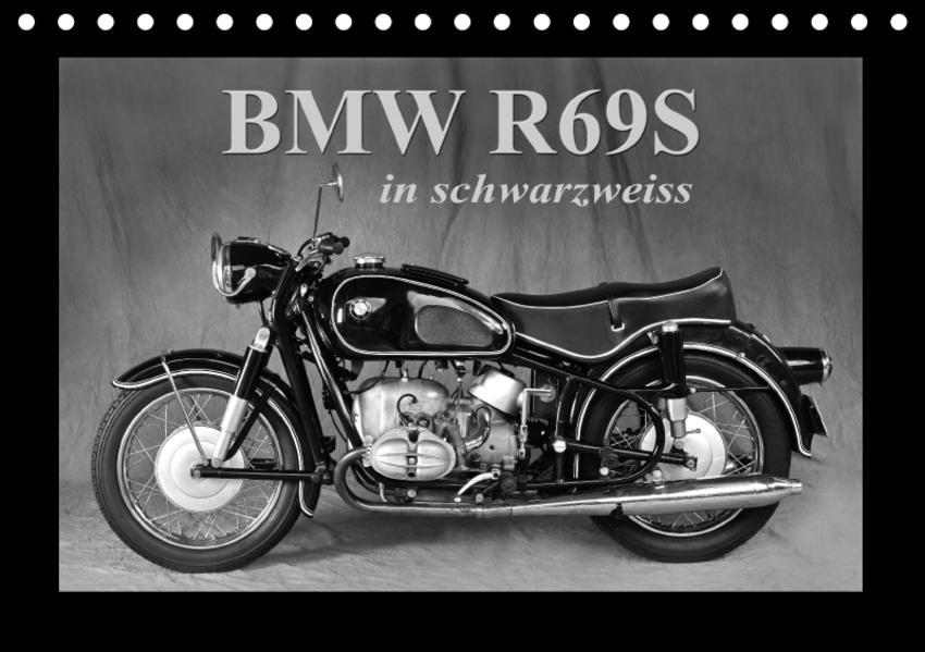 BMW R69S in schwarzweiss (Tischkalender 2017 DIN A5 quer) - Coverbild