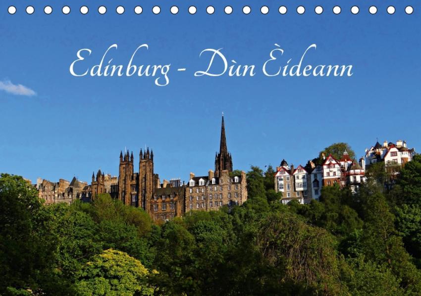 Edinburgh - Dùn Èideann (Tischkalender 2017 DIN A5 quer) - Coverbild