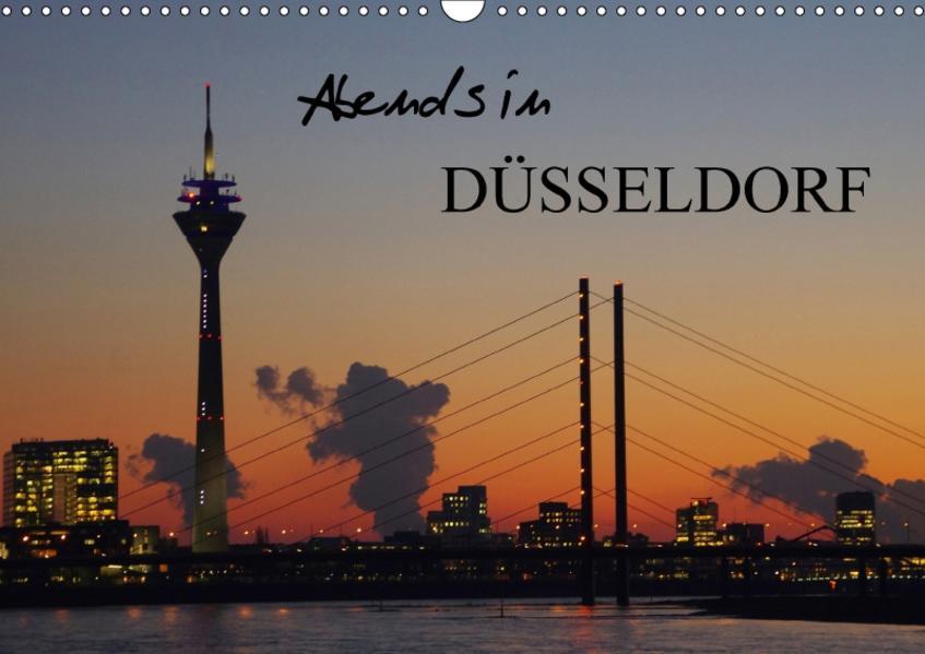 Abends in Düsseldorf (Wandkalender 2017 DIN A3 quer) - Coverbild