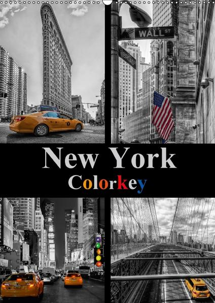 New York Colorkey (Wandkalender 2017 DIN A2 hoch) - Coverbild