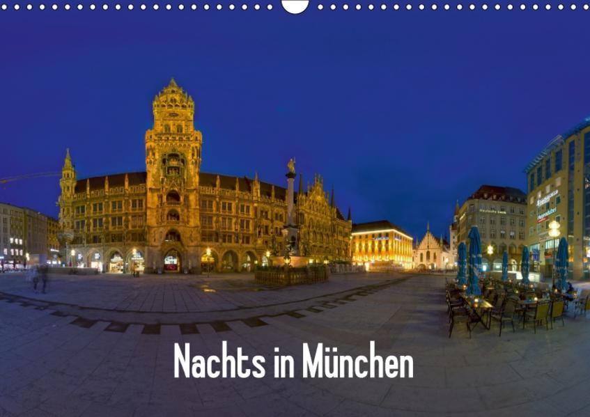 Nachts in München (Wandkalender 2017 DIN A3 quer) - Coverbild
