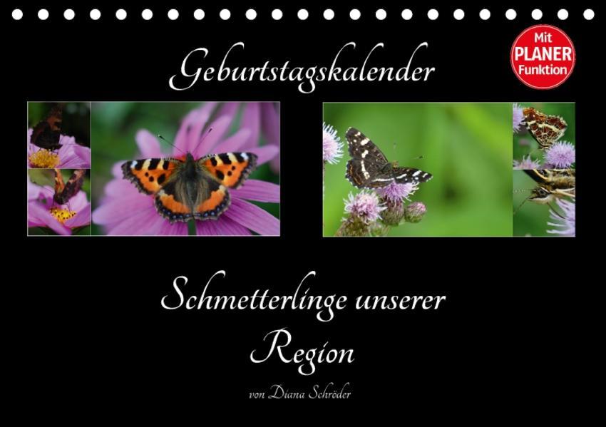Geburtstagskalender Schmetterlinge unserer Region (Tischkalender 2017 DIN A5 quer) - Coverbild