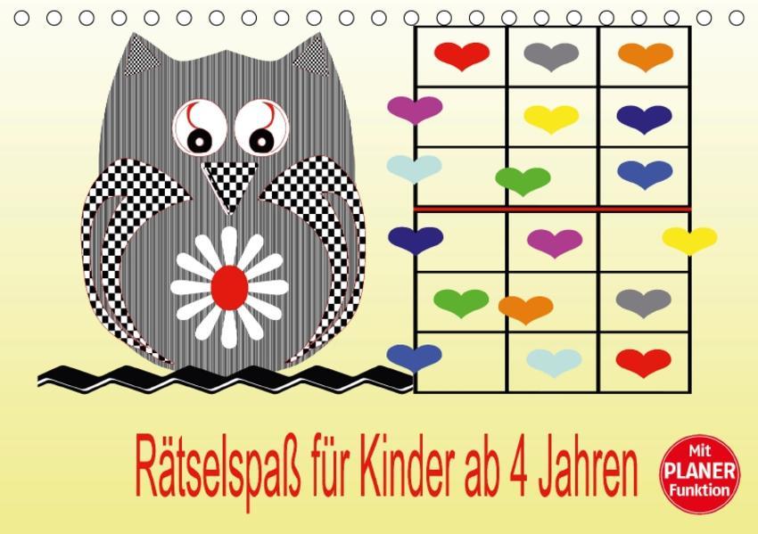 Rätselspaß für Kinder ab 4 Jahren (Tischkalender 2017 DIN A5 quer) - Coverbild