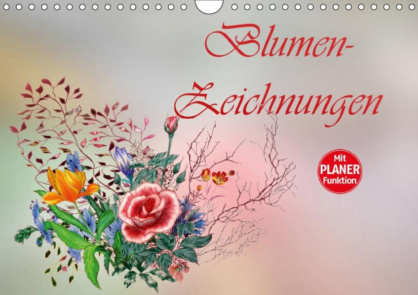 Blumen-Zeichnungen (Wandkalender 2017 DIN A4 quer) - Coverbild