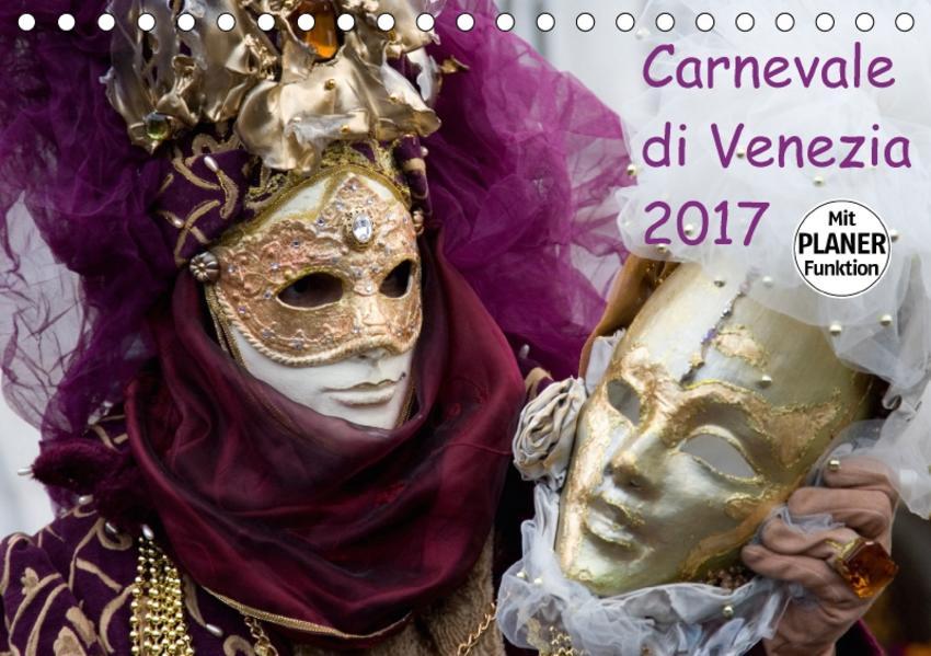 Carnevale di Venezia 2017 (Tischkalender 2017 DIN A5 quer) - Coverbild