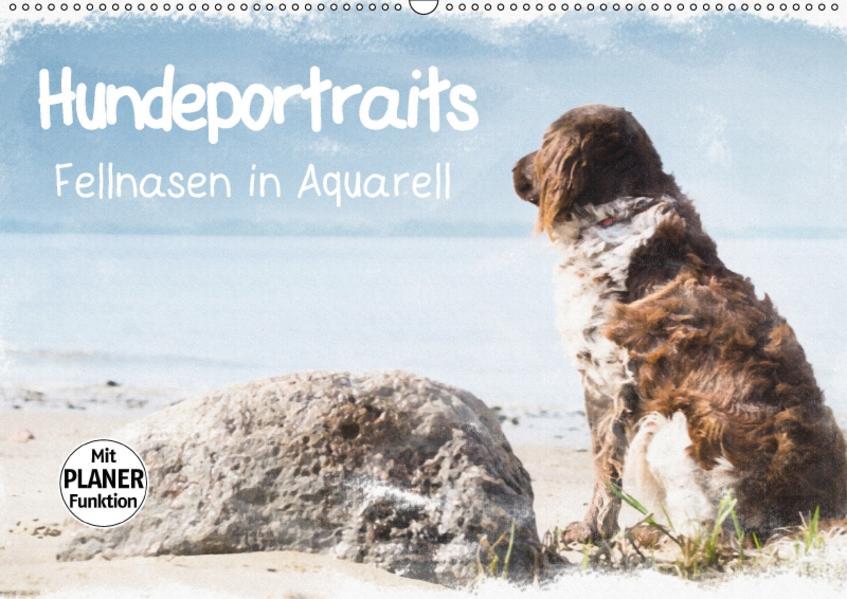 Hundeportraits - Fellnasen in Aquarell (Wandkalender 2017 DIN A2 quer) - Coverbild