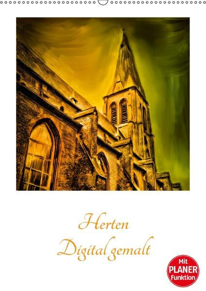 Herten - Digital gemalt (Wandkalender 2017 DIN A2 hoch) - Coverbild