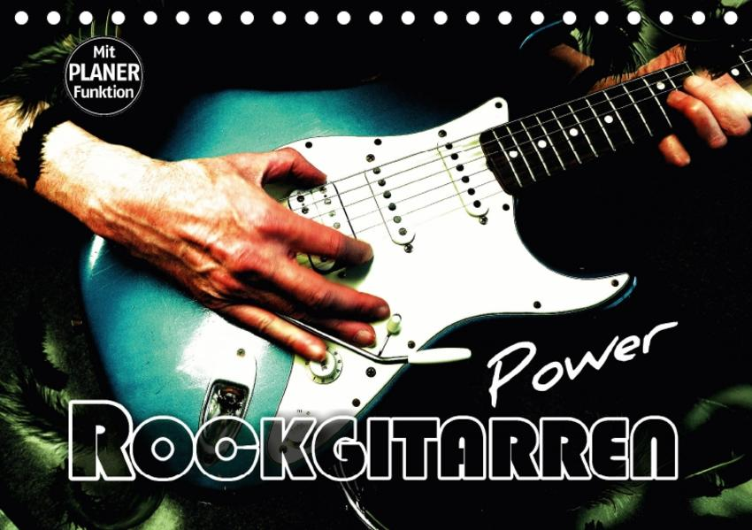 Rockgitarren Power (Tischkalender 2017 DIN A5 quer) - Coverbild