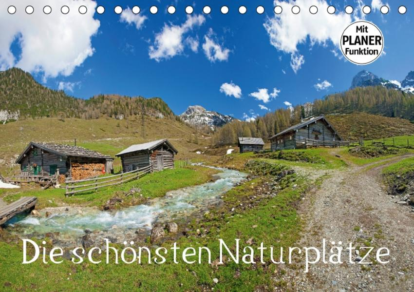 Die schönsten Naturplätze (Tischkalender 2017 DIN A5 quer) - Coverbild