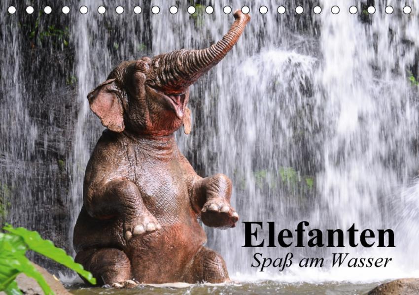 Elefanten. Spaß am Wasser (Tischkalender 2017 DIN A5 quer) - Coverbild