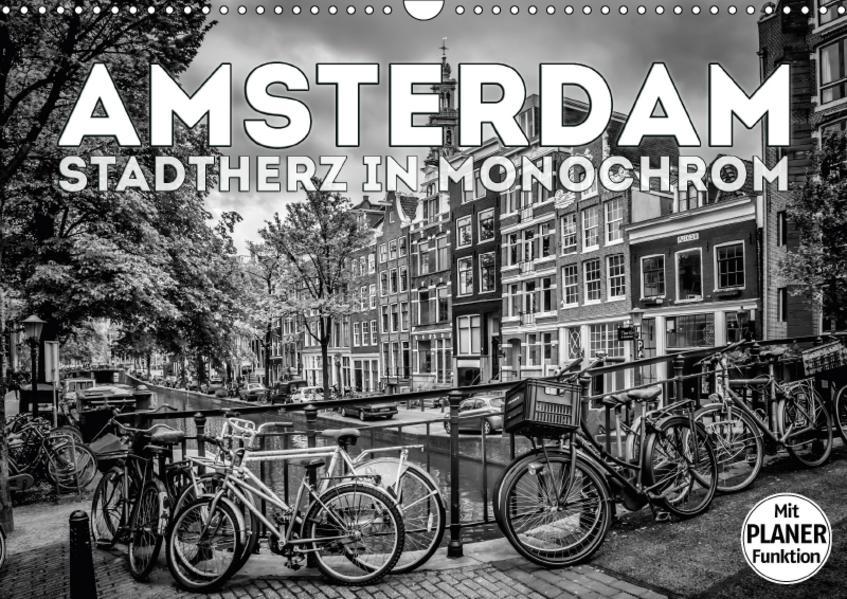 AMSTERDAM Stadtherz in Monochrom (Wandkalender 2017 DIN A3 quer) - Coverbild