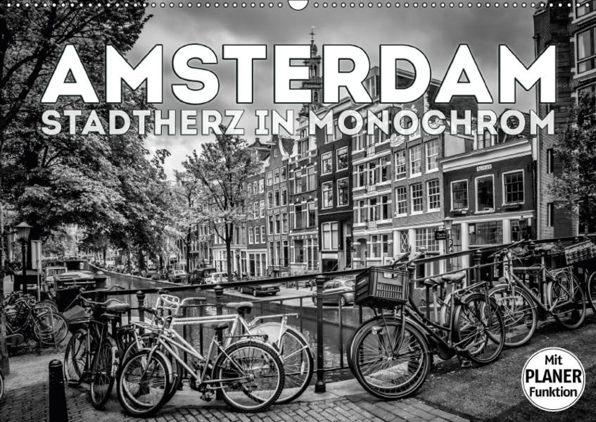 AMSTERDAM Stadtherz in Monochrom (Wandkalender 2017 DIN A2 quer) - Coverbild