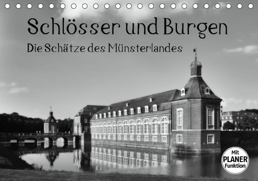 Schlösser und Burgen. Die Schätze des Münsterlandes (Tischkalender 2017 DIN A5 quer) - Coverbild