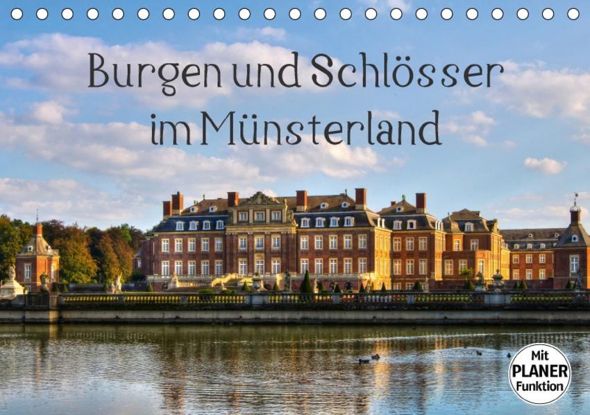 Burgen und Schlösser im Münsterland (Tischkalender 2017 DIN A5 quer) - Coverbild