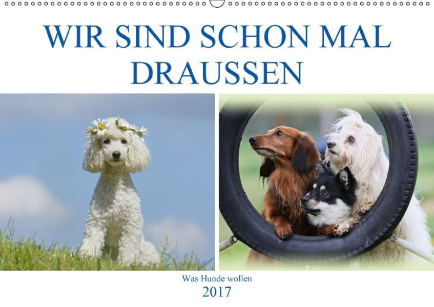 WIR SIND SCHON MAL DRAUSSEN – Was Hunde wollen (Wandkalender 2017 DIN A2 quer) - Coverbild