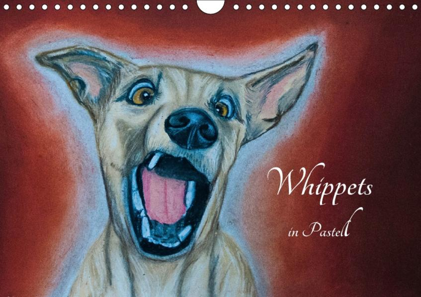 Whippets in Pastell (Wandkalender 2017 DIN A4 quer) - Coverbild