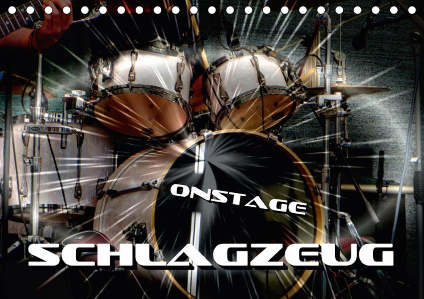 Schlagzeug onstage (Tischkalender 2017 DIN A5 quer) - Coverbild