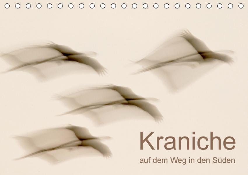Kraniche auf dem Weg nach Süden (Tischkalender 2017 DIN A5 quer) - Coverbild