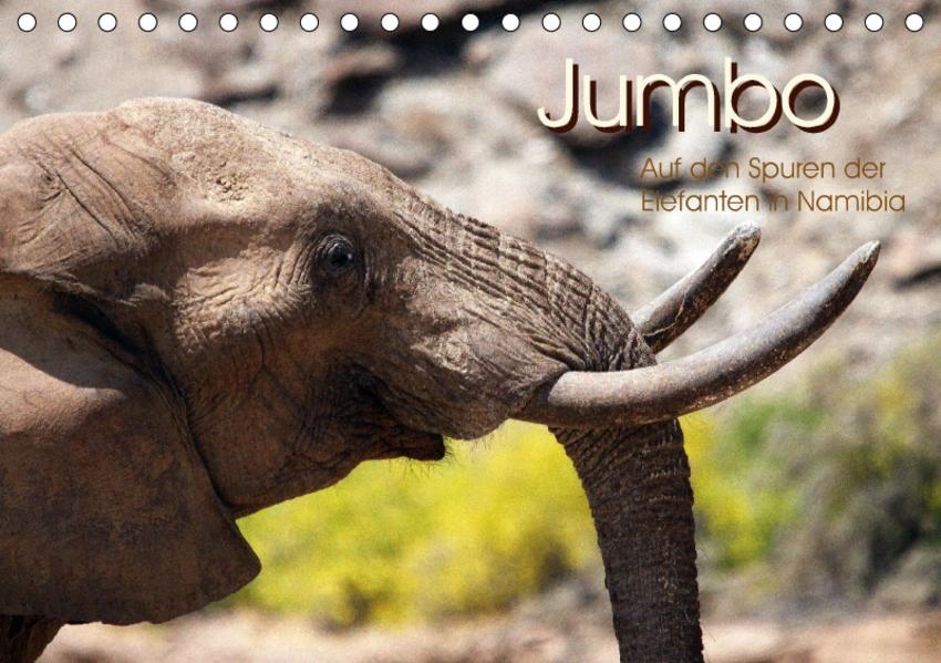Jumbo  Auf den Spuren der Elefanten in Namibia (Tischkalender 2017 DIN A5 quer) - Coverbild