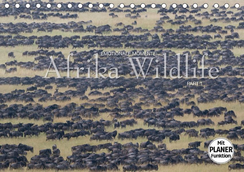 Emotionale Momente: Afrika WildlifeCH-Version  (Tischkalender 2017 DIN A5 quer) - Coverbild