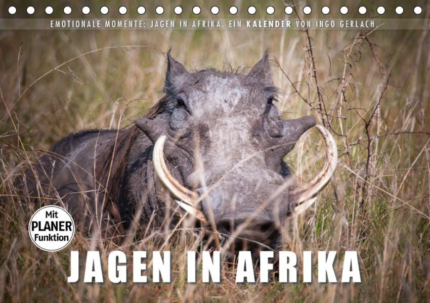 Emotionale Momente: Jagen in Afrika. (Tischkalender 2017 DIN A5 quer) - Coverbild