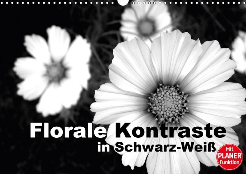 Florale Kontraste in Schwarz-Weiß (Wandkalender 2017 DIN A3 quer) - Coverbild
