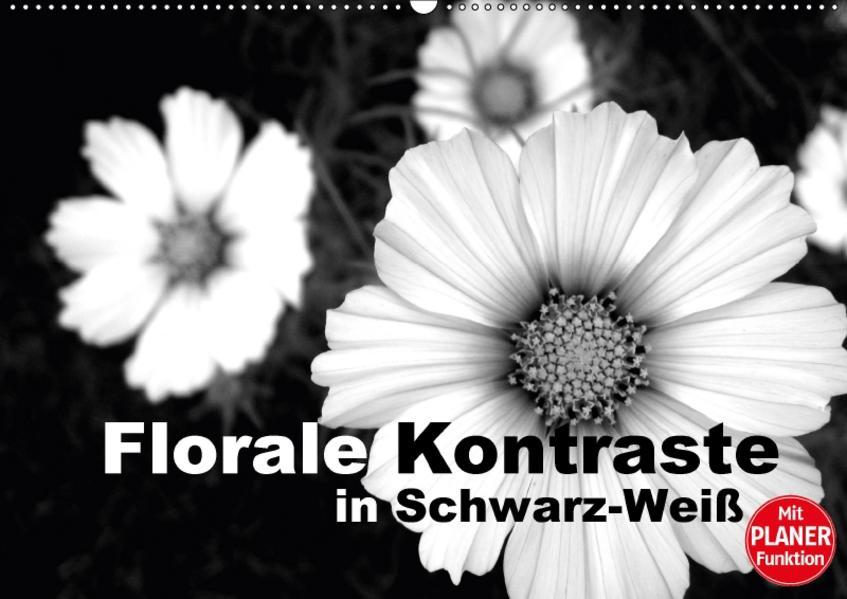 Florale Kontraste in Schwarz-Weiß (Wandkalender 2017 DIN A2 quer) - Coverbild